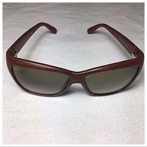 Gucci Cat Eye Wood Gradient Sunglasses GG 3655S